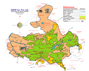 Plantation map of KDHP
